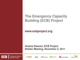 The Emergency Capacity Building ECB Project