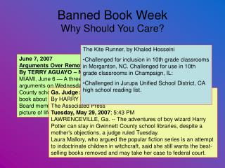 Banned Book Week Why Should You Care