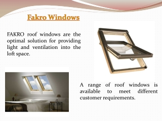 Fakro Roof Windows