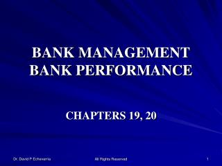 BANK MANAGEMENT BANK PERFORMANCE