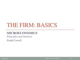 The Firm: Basics