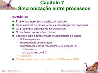 Cap tulo 7    Sincroniza  o entre processos