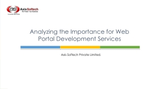 Analyzing the Importance for Web Portal Development Services