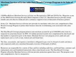 merchant services of irvine adds data breach coverage progra