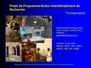 Projet de Programme