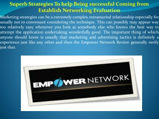 Superb Strategies To help Being successful Coming from Estab