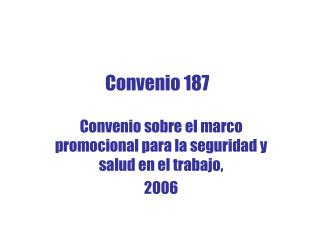 Convenio 187