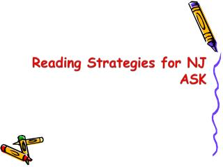 Reading Strategies for NJ ASK