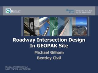 Roadway Intersection Design In GEOPAK Site