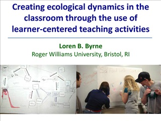 creating ecological dynamics in the classroom through the use of         learner-centered teaching activities