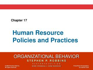 Human Resource Policies and Practices