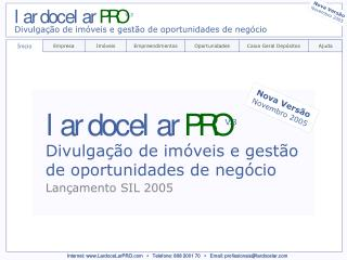 Internet: LardoceLarPRO      Telefone: 808 2001 70      Email: profissionaislardocelar