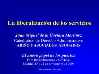 La liberalizaci n de los servicios