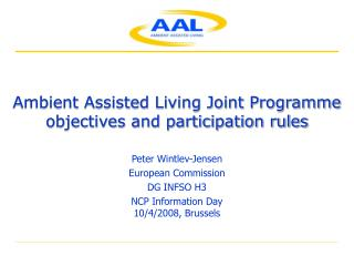 Ambient Assisted Living Joint Programme  objectives and participation rules