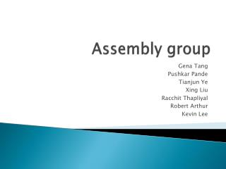 Assembly group