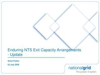 Enduring NTS Exit Capacity Arrangements - Update