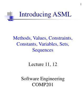 Introducing ASML