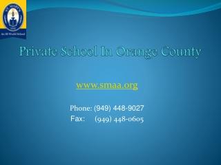 Best Orange County Private School