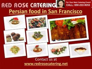Persian Food in San Francisco