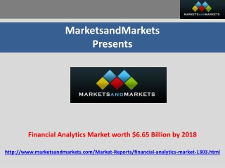 Financial Analytics Market worth $6.65 Billion by 2018