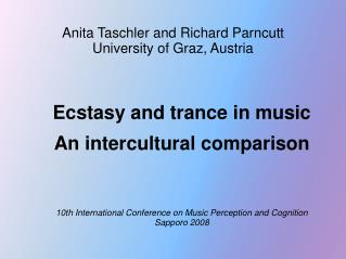 Anita Taschler and Richard Parncutt  University of Graz, Austria