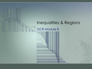 Inequalities  Regions
