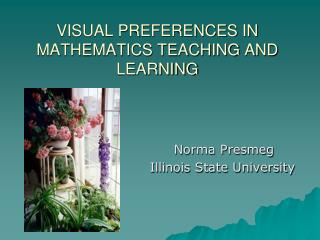 VISUAL PREFERENCES IN MATHEMATICS TEACHING AND LEARNING