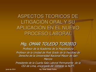 ASPECTOS TEORICOS DE LITIGACI N ORAL Y SU APLICACI N EN EL NUEVO PROCESO LABORAL