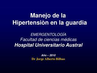 Manejo de la   Hipertensi n en la guardia