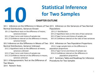 Statistical Inference for Two Samples