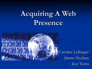 acquiring a web presence