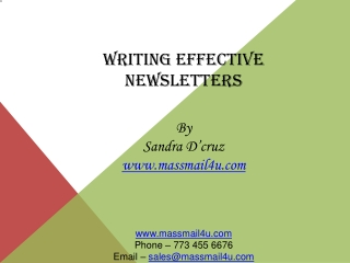 Writing effective newsletters