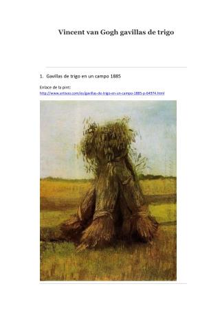 Vincent van Gogh gavillas de trigo -- Artisoo
