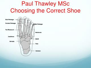 Paul Thawley MSc Choosing the Correct Shoe