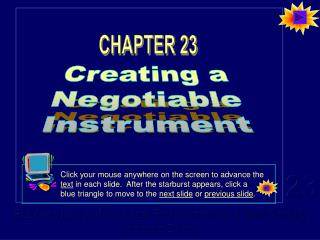 creating a negotiable instrument