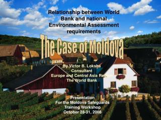 Presentation For the Moldova Safeguards Training Workshop October 28-31, 2008