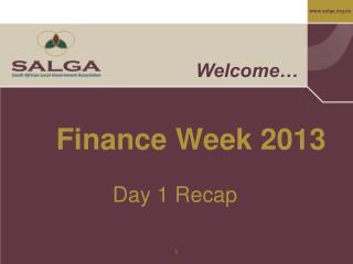 Finance Week 2013