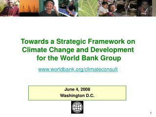Towards A Strategic Framework on Climate Change for the World ...