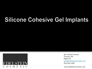 Silicone Cohesive Gel Implants