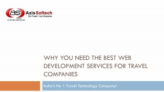 Why You Need the Best Web Development Services for Travel Co