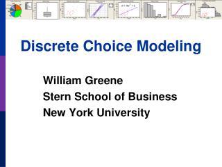 Discrete Choice Modeling
