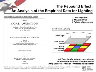 The Rebound Effect: An Analysis of the Empirical Data for Lighting