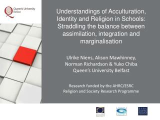 Understandings of Acculturation, Identity and Religion in Schools: Straddling the balance between assimilation, integrat