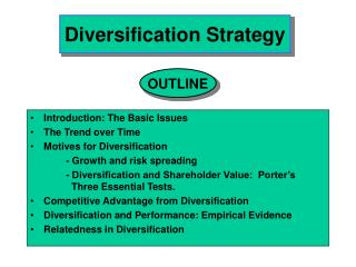 diversification strategy
