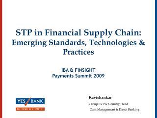 ravishankar group evp  country head  cash management  direct banking