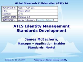 ATIS Identity Management Standards Development