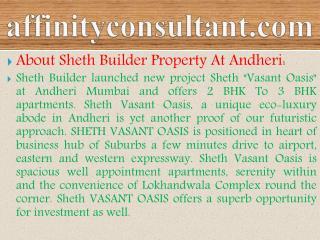 sheth vasant oasis mumbai info-09999684955 vasant oasis ..