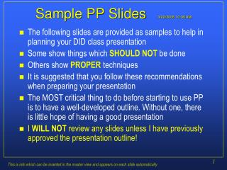 Sample PP Slides   3