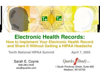 electronic health records: how to implement your electronic health record and share it without getting a hipaa headache