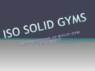 Multi Gyms Equipments in Delhi